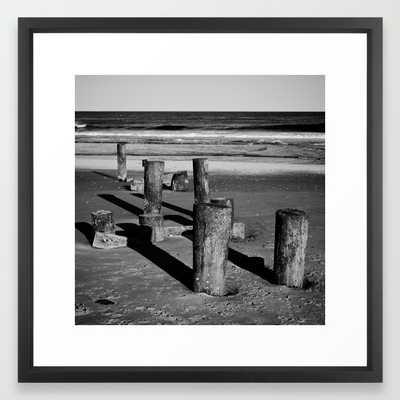Belmar Beach 22x22 framed - Society6