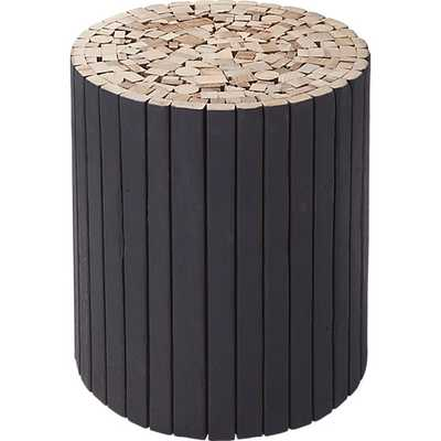Charred puzzle table-stool - CB2