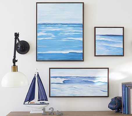 "Monique Lhuillier Oil Painted Art - Large - 16"" wide x 1.5"" deep x 20"" high - Framed - Pottery Barn Kids"