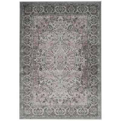 Safavieh Paradise Light Grey/ Spruce Viscose Rug (4' x 5'7) - Overstock