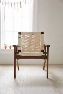 Woven Lounge Chair-Cream - Urban Outfitters