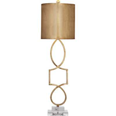 """Hollywood Glam Vivian 34"""" H Table Lamp with Drum Shade - Wayfair"""
