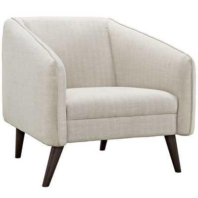 SLIDE ARMCHAIR IN BEIGE - Modway Furniture