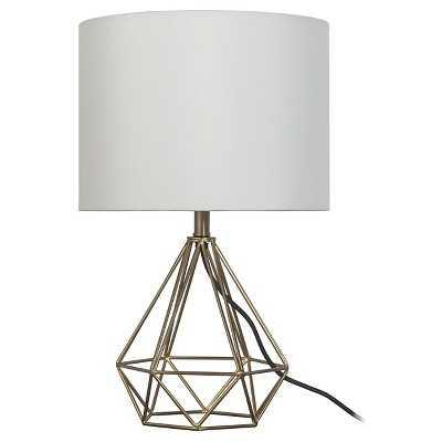 """Geometric Metal Small Table Lamp - Room Essentialsâ""""¢ - Target"""