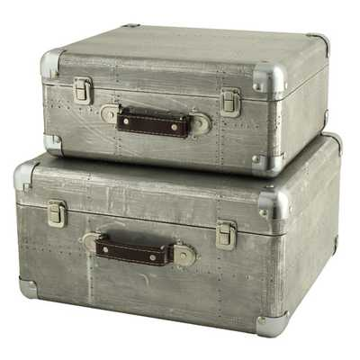 Hagen 2 Piece Suitcase Trunk Set - Wayfair