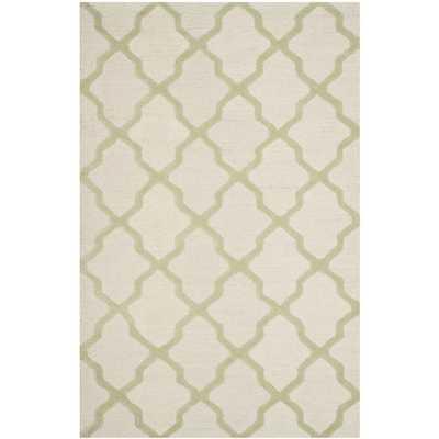 Moroccan Cambridge Ivory/ Light Green Wool Rug (8' x 10') - Overstock