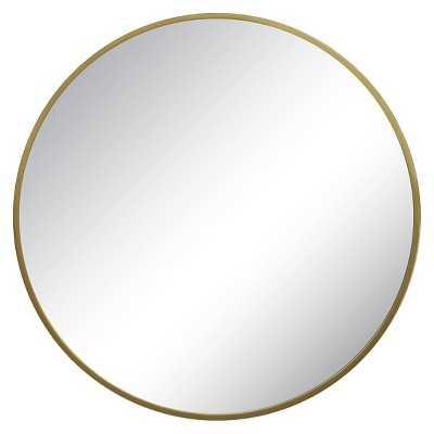 """Round Mirror Brass 28"""" - Target"""