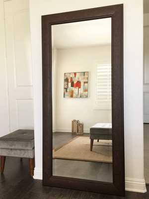 Marcello Full Floor Rustic Walnut Brown Mirror - Amazon