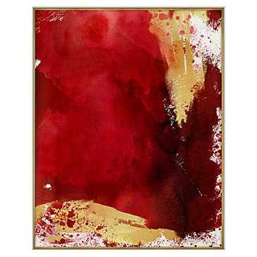 Crimson Splash -40''W x 50''H-Framed - Z Gallerie