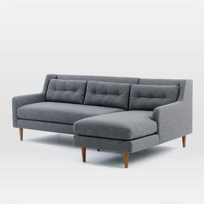 Crosby Right Chaise 2-Piece Sectional - West Elm