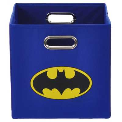 Batman Logo Blue Folding Storage Bin - Overstock