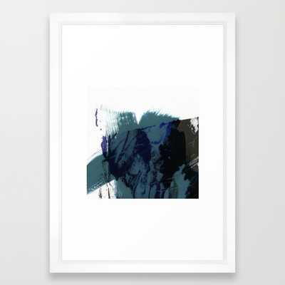 "brush strokes 8 - VECTOR WHITE SMALL (15"" X 21"") - Society6"