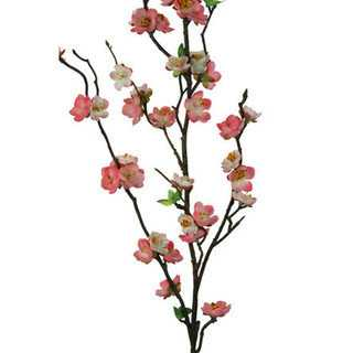 Blush 30-inch Peach Blossom Spray Decorative Flower (Set of 12) - Overstock