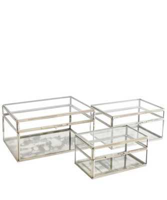 Nickel & Glass Lidded Display Boxes - Large - High Street Market