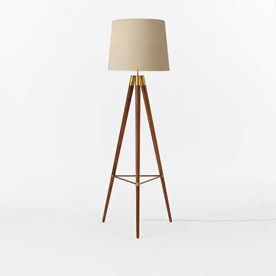 Mid-Century Wood Tripod Floor Lamp - West Elm