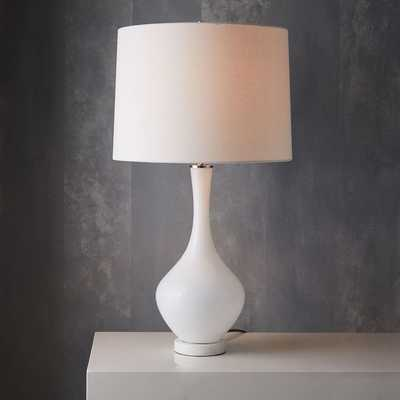 west elm + Rejuvenation Colored Glass Table Lamp - Tall - white - West Elm
