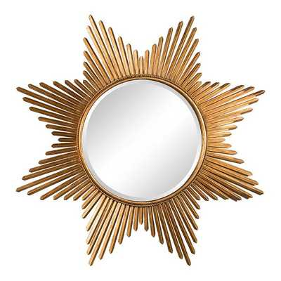 Antiqued Gold Star Mirror - mintwoodhome.com