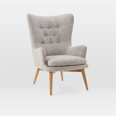 Niels Wing Chair - Feather Gray (Deco Weave) - West Elm