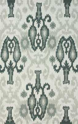 "Hand Hooked Cici Cotton rug - Light Grey; 7' 6"" x 9' 6"" - Loom 23"