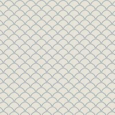 Deco Darling - True Blue scallop fabric - Loom Decor