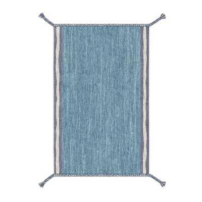 Tasseled Heathered Wool Shag Rug - 5' x 8' - West Elm