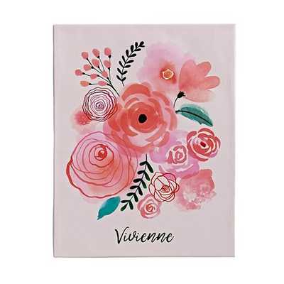 "Florals Personalized Wall Art 14""Wx1.5""Dx18""H-unframed - Land of Nod"