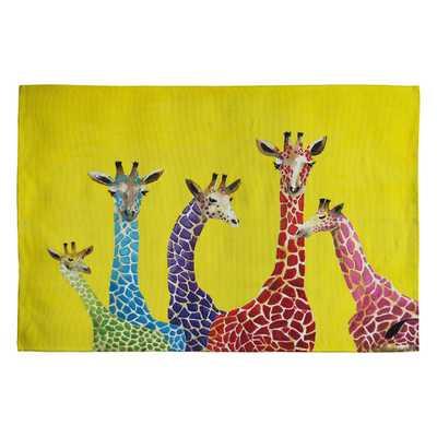 Clara Nilles Jellybean Giraffes Area Rug - AllModern