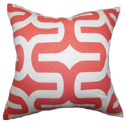 "Cotton Throw Pillow - Salmon - 18"" H x 18"" W - Polyester/Polyfill - Wayfair"