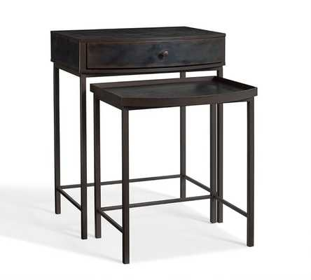 Woodrow Metal Nesting Bedside Tables, Set of 2 - Pottery Barn