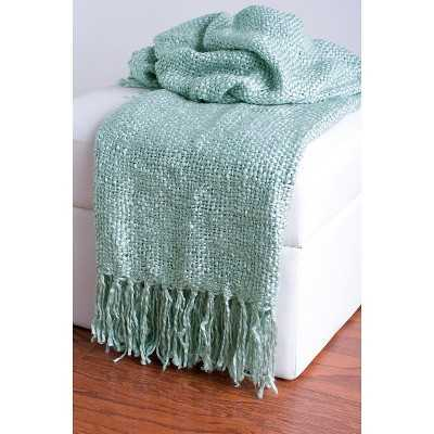 Rizzy Home Acrylic Woven Throw - Teal - Target