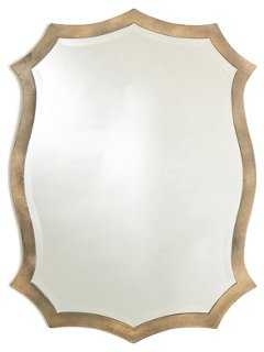 Scalloped Mirror, Gold - One Kings Lane