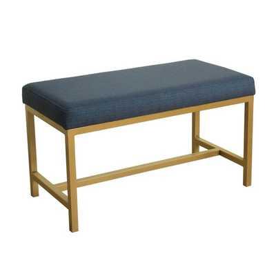 HomePop Long Rectangular Bench - Overstock