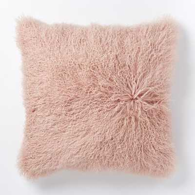 """Mongolian Lamb Pillow Cover - Rosette (24"""") - Without insert - West Elm"""