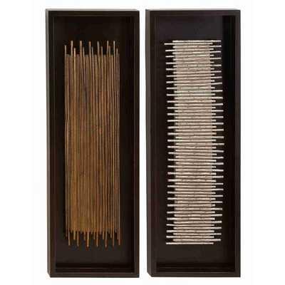2 Piece Stanton Drew Assorted Rectangular Frames Wall Décor Set - AllModern