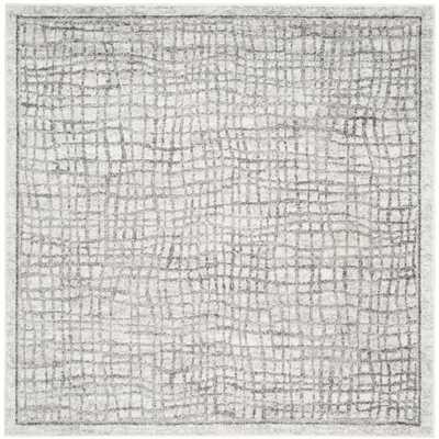 Safavieh Adirondack Silver/ Ivory Rug (6' Square) - Overstock