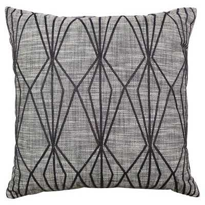 "Thresholdâ""¢ Faceted Embroidered Pillow Gray - 18""Sq - Polyester Insert - Target"
