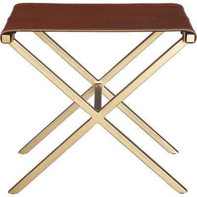 Leather director's stool - CB2