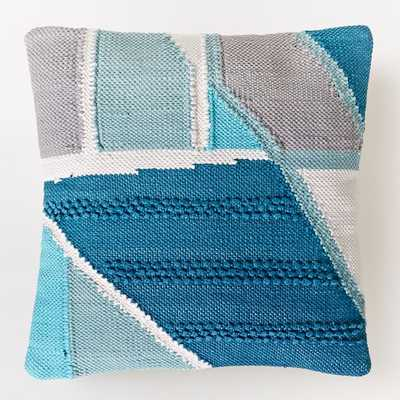 """Chindi Colorblock Shag Pillow -20""""- insert not included - West Elm"""