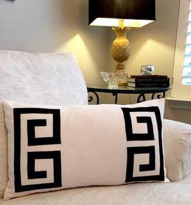 Greek Key Pillow - Etsy
