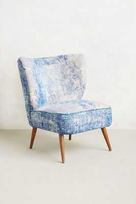 Dhurrie Occasional Chair - Blue - Anthropologie