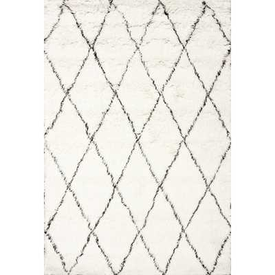 Moderna Ivory Moroccan Shag Area Rug 6' x 9' - Wayfair