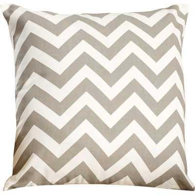 "Chevron Cotton Throw Pillow - Gray - 18"" H x 18"" W x 4"" D - Cotton insert - Wayfair"