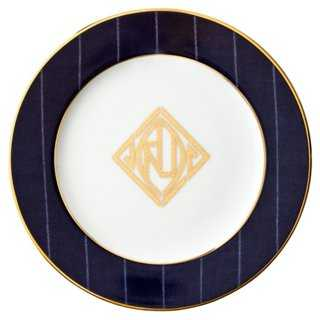 Ascot Bread Plate w/ 24-Kt Gold - One Kings Lane