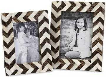 Chevron Bone Picture Frames - Set of 2 - Home Decorators