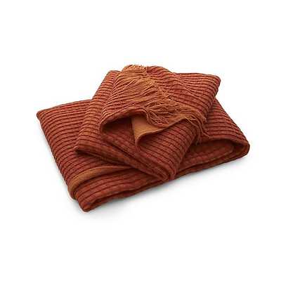 Lark Orange Throw - Orange - Crate and Barrel
