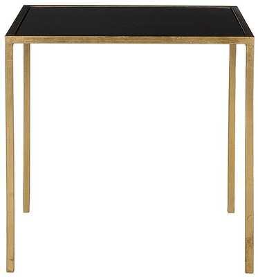 Jada accent table Gold/Black glass - Home Decorators