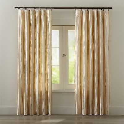 """Kendal Yellow 50""""x84"""" Curtain Panel - Crate and Barrel"""