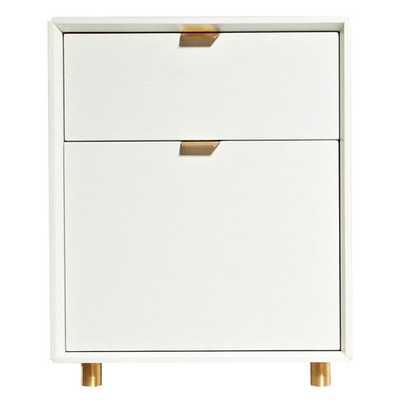 Dang 2 Drawer File Cabinet - White on Oak - AllModern