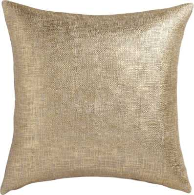 "Glitterati gold 23"" pillow with down-alternative insert - CB2"