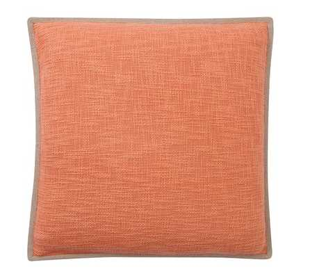 """Basketweave Pillow Cover-Marmalade-20""""x20""""-No Insert - Pottery Barn"""